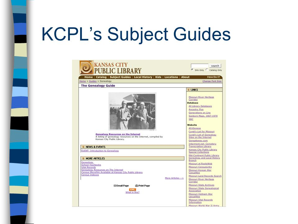 KCPL's Subject Guides