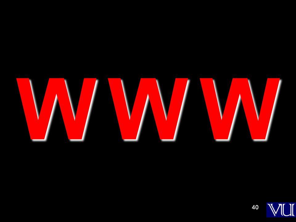 40 W W WW W WW W WW W W