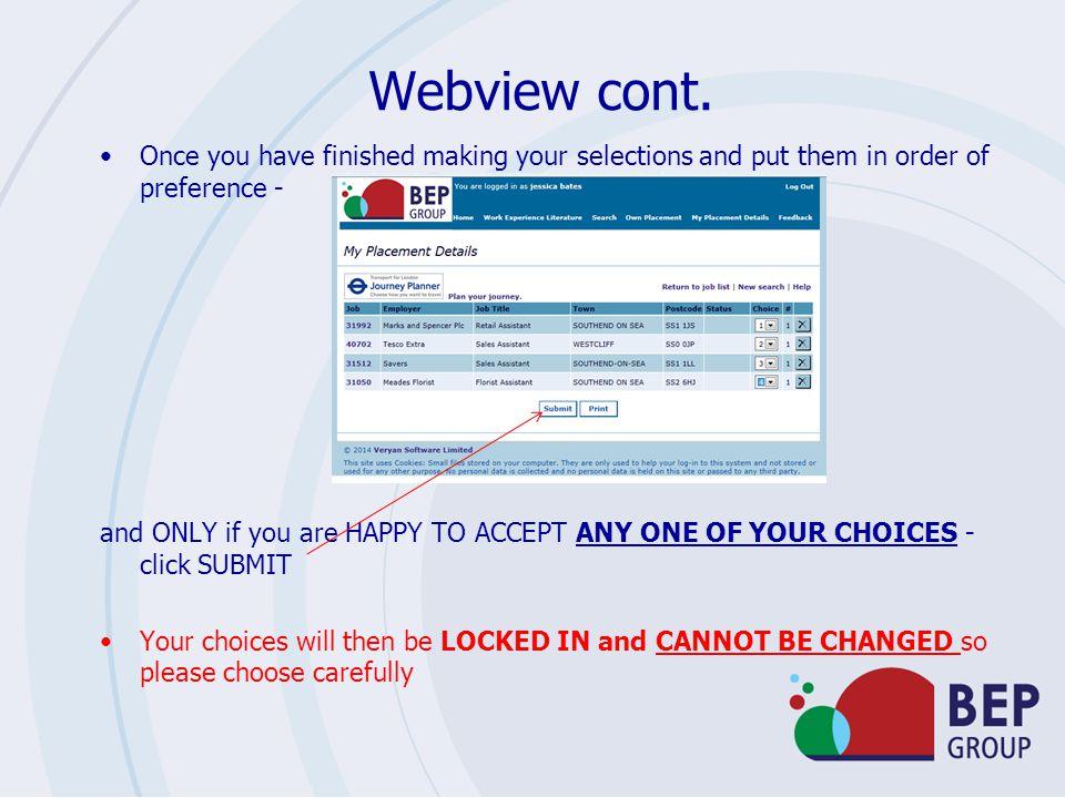 Webview cont.