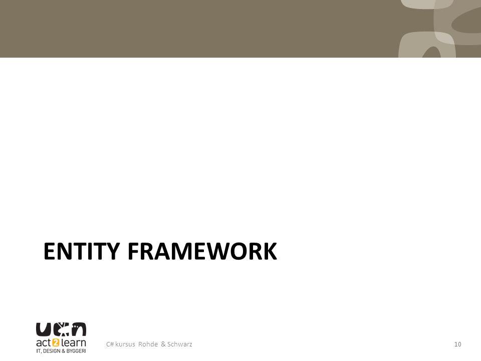 ENTITY FRAMEWORK C# kursus Rohde & Schwarz10