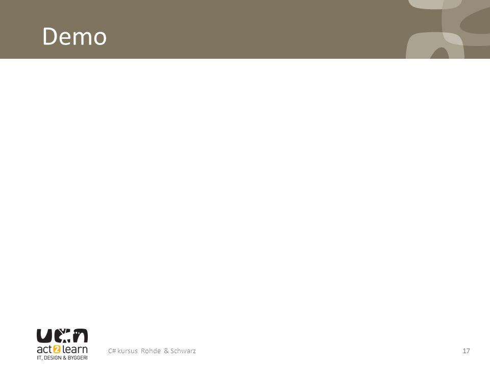 Demo C# kursus Rohde & Schwarz17