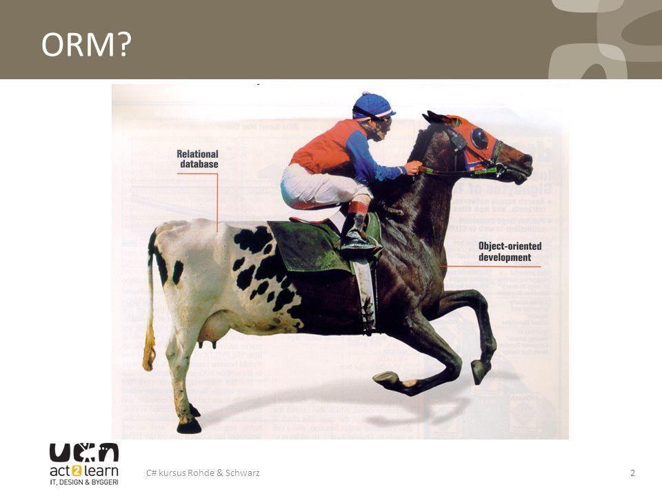 ORM? 2C# kursus Rohde & Schwarz