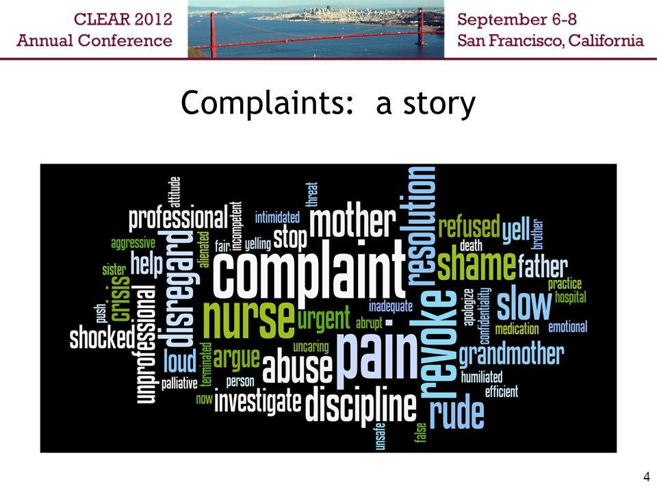 Complaints: a story 4