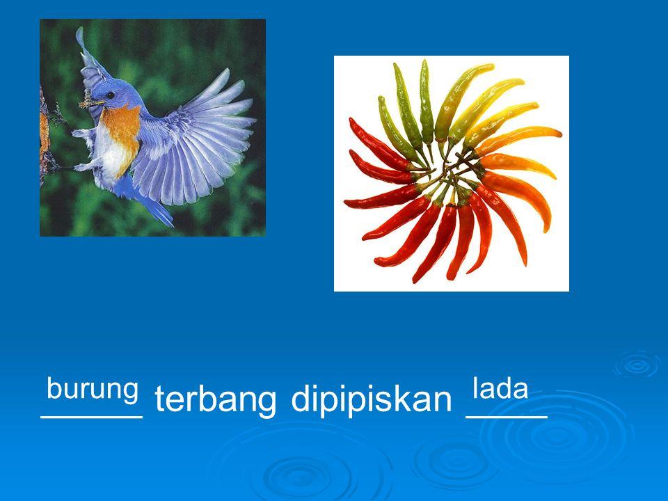 _____ terbang dipipiskan ____ burunglada