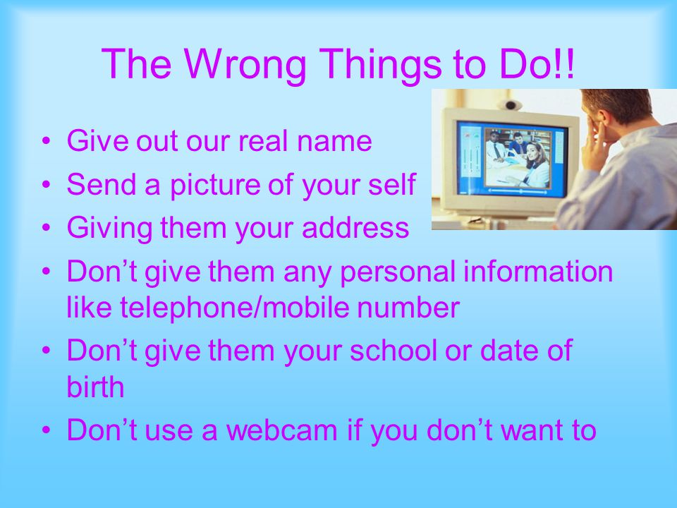 The Wrong Things to Do!.
