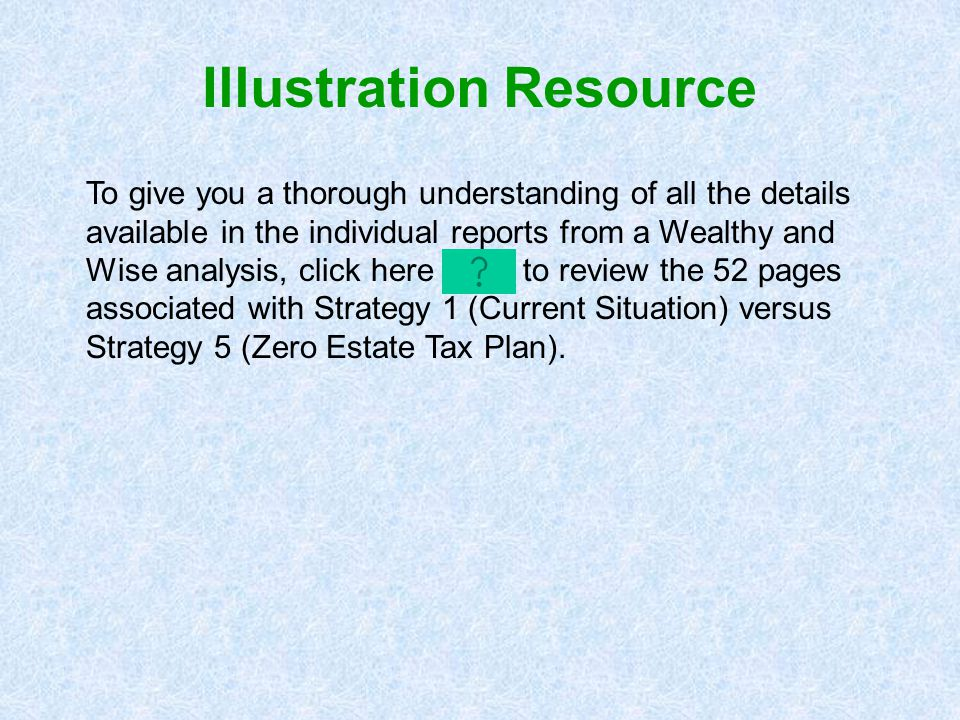 To give you a thorough understanding of all the details available in the individual reports from a Wealthy and Wise analysis, click here to review the