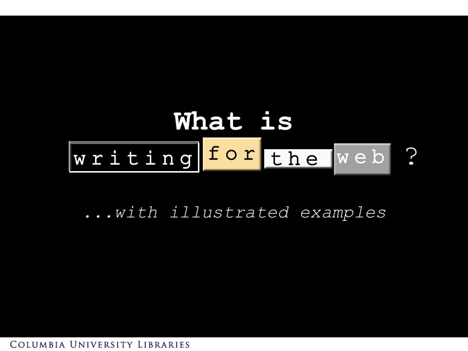 What is...with illustrated examples