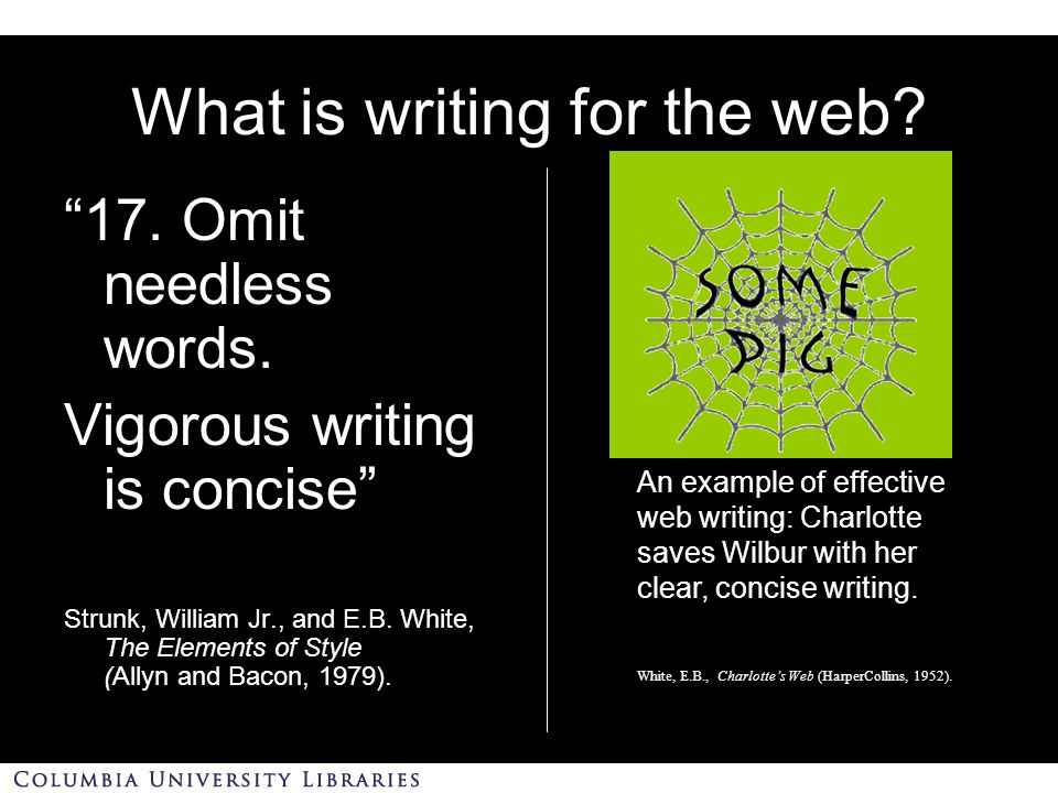 Why writing for the web.