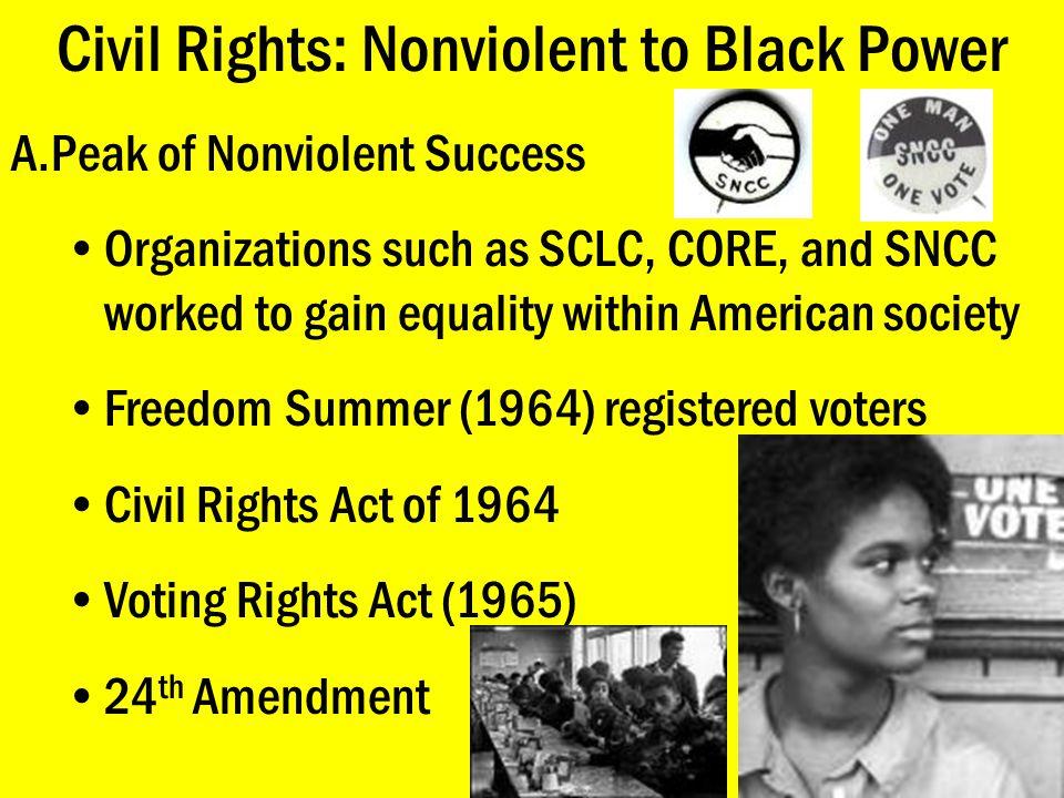 Civil Rights: Feminism E.NOW & New Feminism Glass Ceiling –51% of population vs.