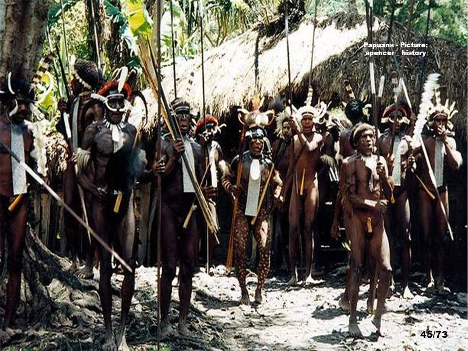 http://www.flickr.com/photos/29277602@N00/2858272680/ Papuans Chiefs - Picture: spencer _ history 44/73