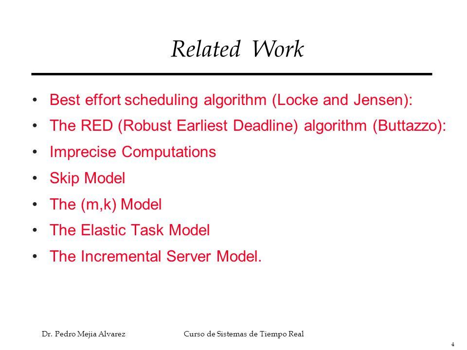 35 Dr.Pedro Mejia Alvarez Curso de Sistemas de Tiempo Real Analysis of the INCA Server Results.