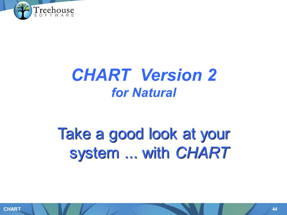 44 CHART CHART Version 2 for Natural Take a good look at your system... with CHART