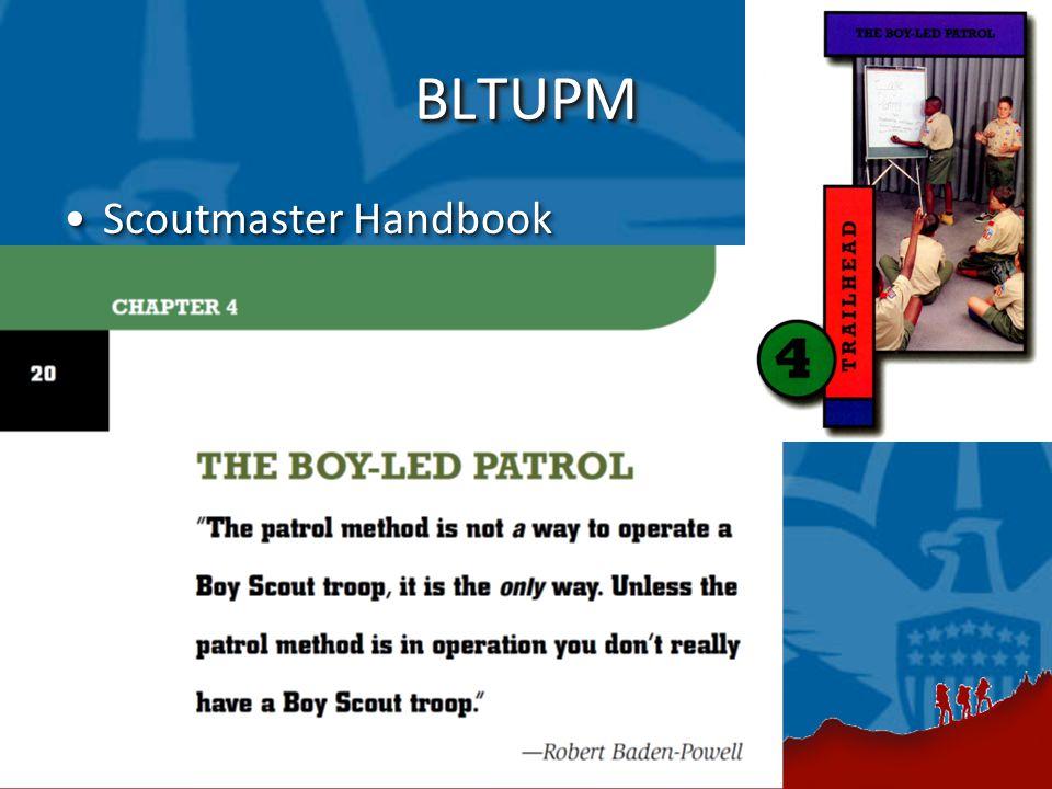 BLTUPMBLTUPM Scoutmaster HandbookScoutmaster Handbook