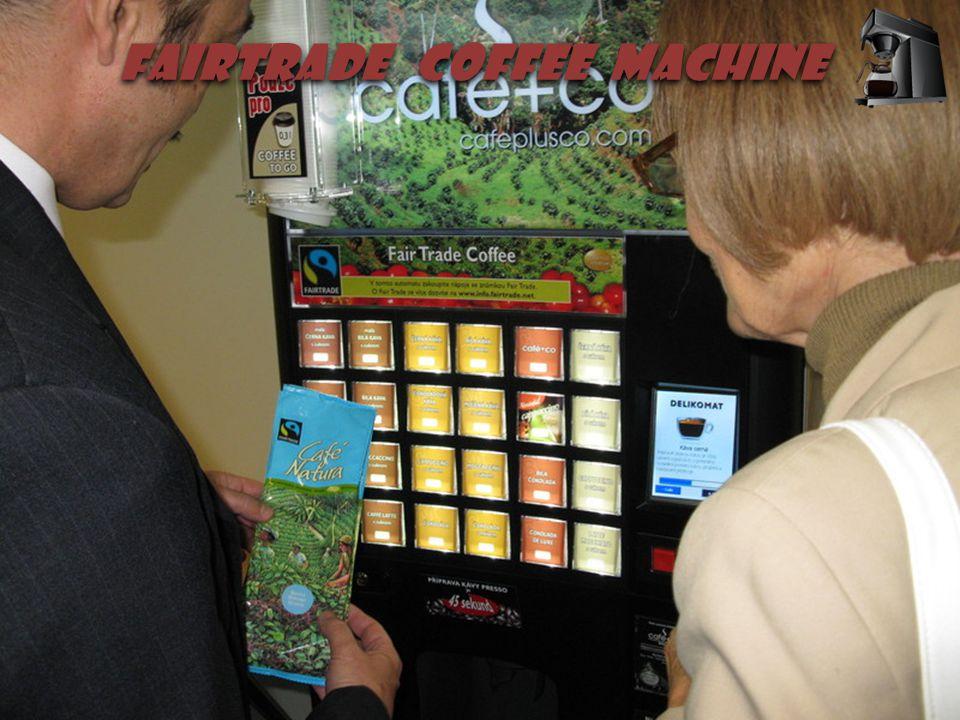  Fairtrade coffee machine