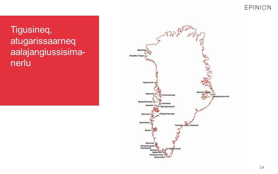 Tigusineq, atugarissaarneq aalajangiussisima- nerlu 14