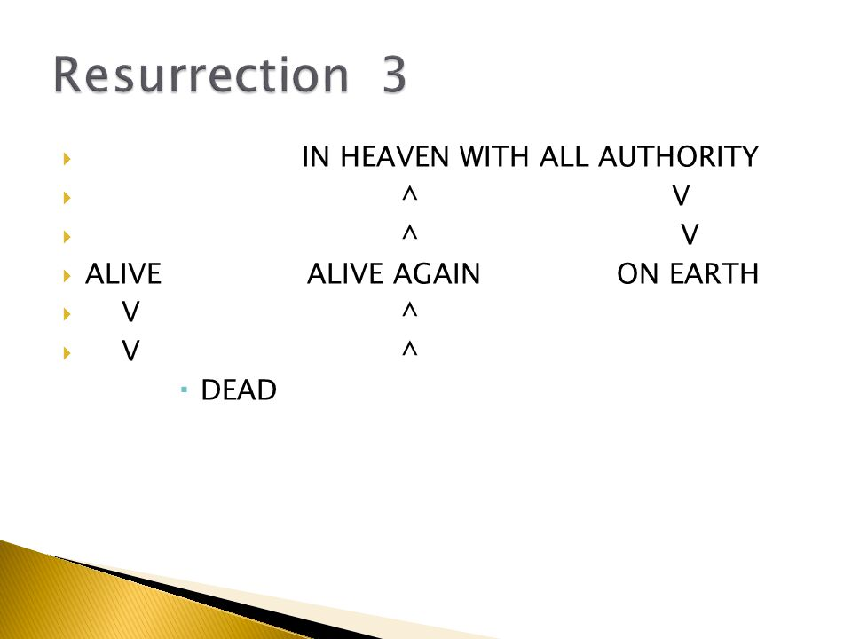  IN HEAVEN WITH ALL AUTHORITY  ^ V  ALIVEALIVE AGAIN ON EARTH  V ^  DEAD