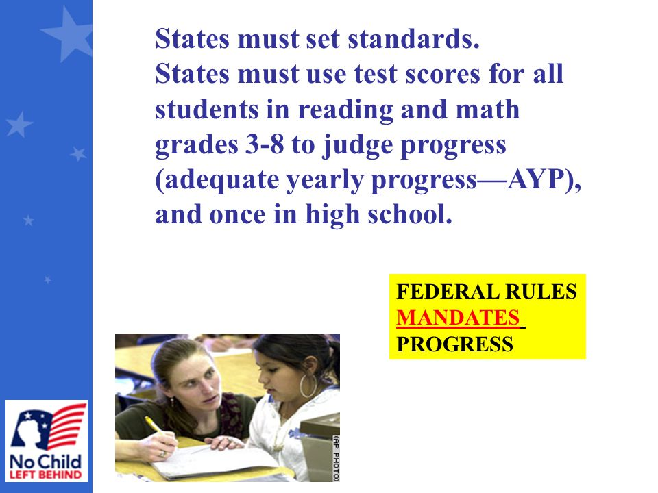 States must set standards.
