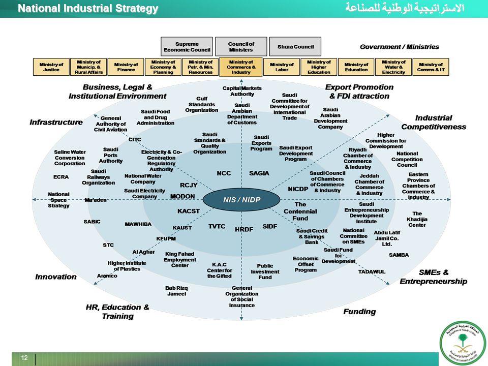 الاستراتيجية الوطنية للصناعة National Industrial Strategy 12