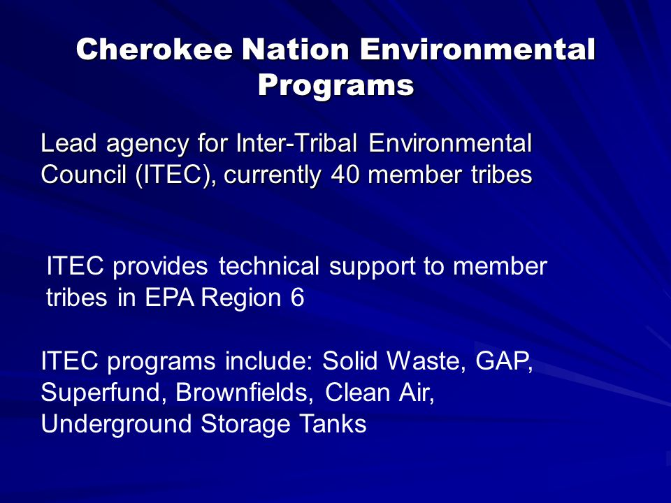 Cherokee Nation Environmental Programs Facility Registry System (FRS) Recent AdditionsRecent Additions | Contact Us | Search: All EPA This AreaContact Us You are here: EPA HomeEPA Home Envirofacts FRS Report Facility Detail Report Environmental Interests Information SystemInformation System IDEnvironmental Interest TypeData SourceLast Updated DateSupplemental Environmental Interests: CNFRS CNFRS85CH1CLDTRIBAL MASTERCN ENV PRGMS Facility Mailing Addresses No Facility Mailing Addresses returned.