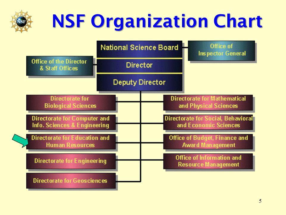 5 NSF Organization Chart