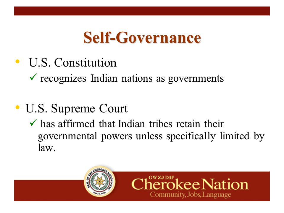 Self-Governance Comments/Observations: Acronyms Develop a Resource Library Develop a SG historical records system Importance of coordination and networking with other Tribes (NCAI, NIHB, TSGAC, etc)