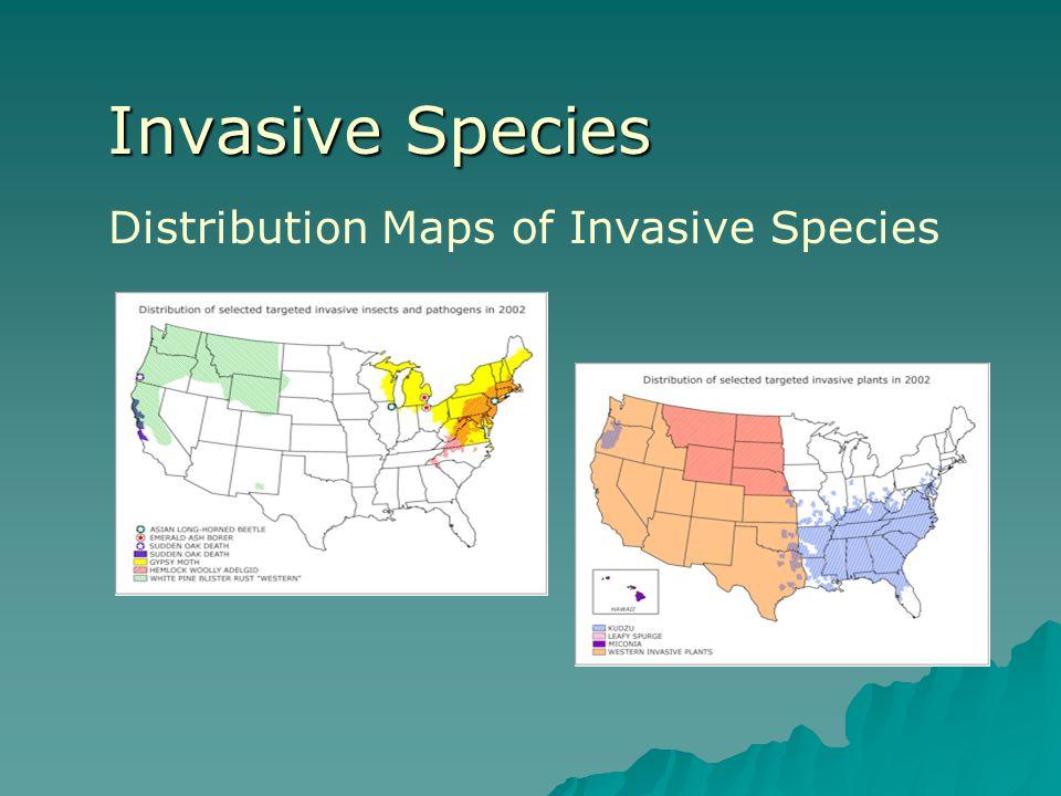 Invasive Species Distribution Maps of Invasive Species