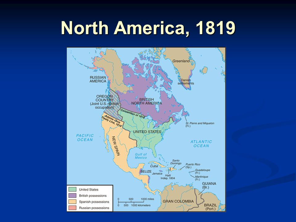 North America, 1819