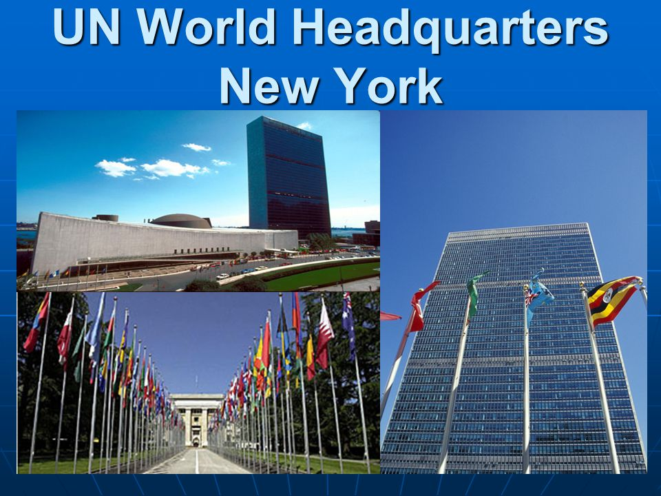 Parts of the United Nations 1.The General Assembly – the 'town meeting' of the world.