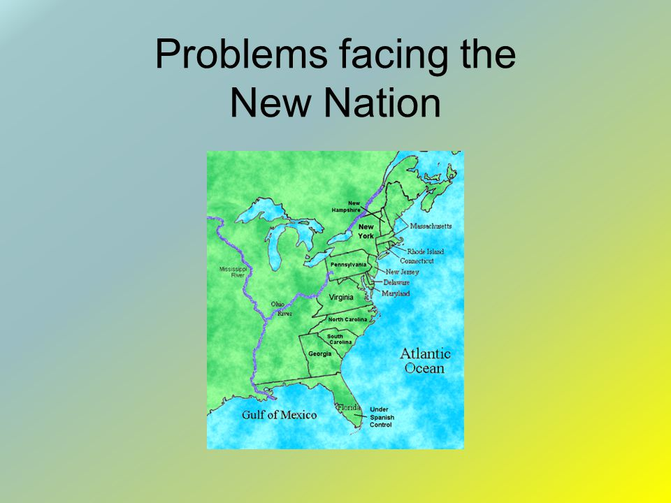 Problems facing the New Nation