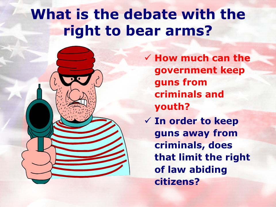 "2 nd Amendment— Right to bear arms ""A well-regulated militia, being necessary to the security of a free state, the right of the people to bear arms sh"