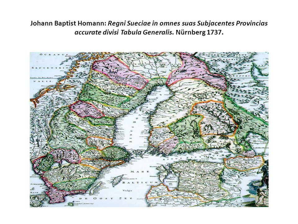 Johann Baptist Homann: Regni Sueciae in omnes suas Subjacentes Provincias accurate divisi Tabula Generalis.