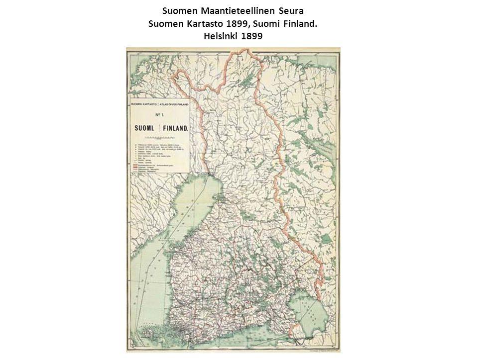 Suomen Maantieteellinen Seura Suomen Kartasto 1899, Suomi Finland. Helsinki 1899