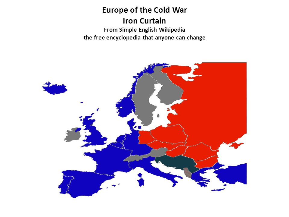 Europe of the Cold War Iron Curtain From Simple English Wikipedia the free encyclopedia that anyone can change