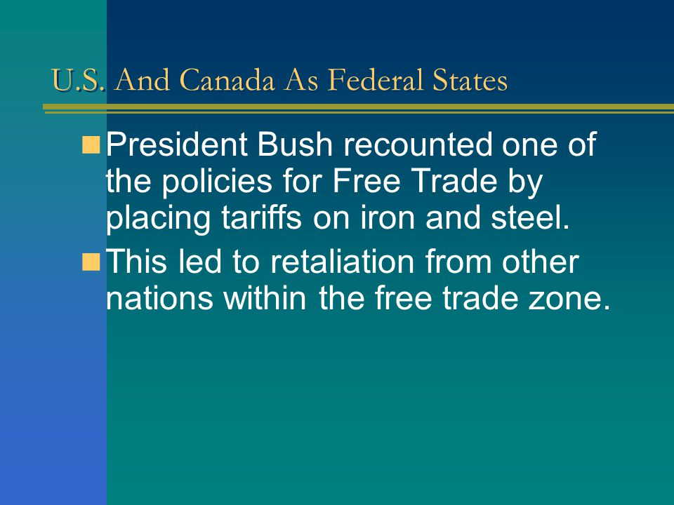 U.S. And Canada As Federal States In the united states there have been concerns over its negative impacts. Many think that jobs are going to be shippe