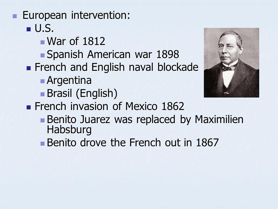 European intervention: European intervention: U.S.