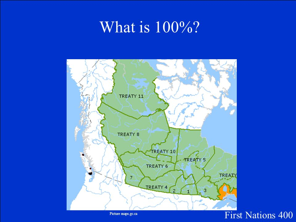 The percentage of the Prairie Provinces in Canada that is covered by Treaty First Nations 400