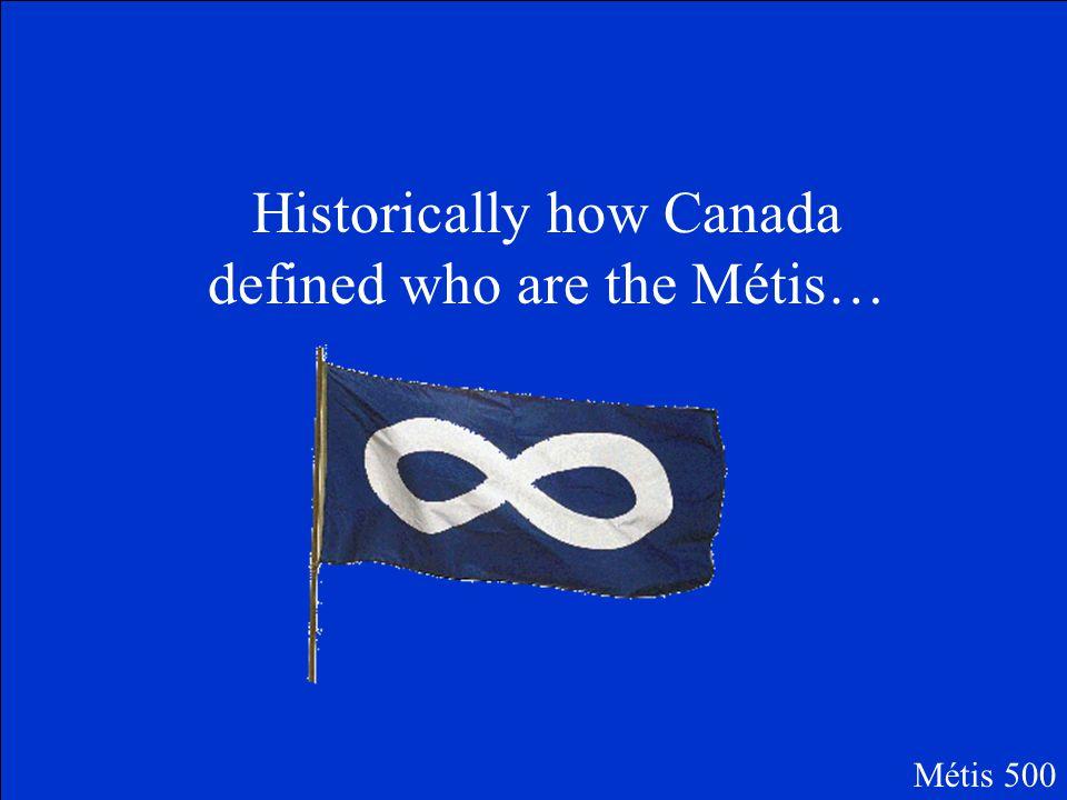 "What is ""Michif""? Métis 400 Picture by MNC.com"