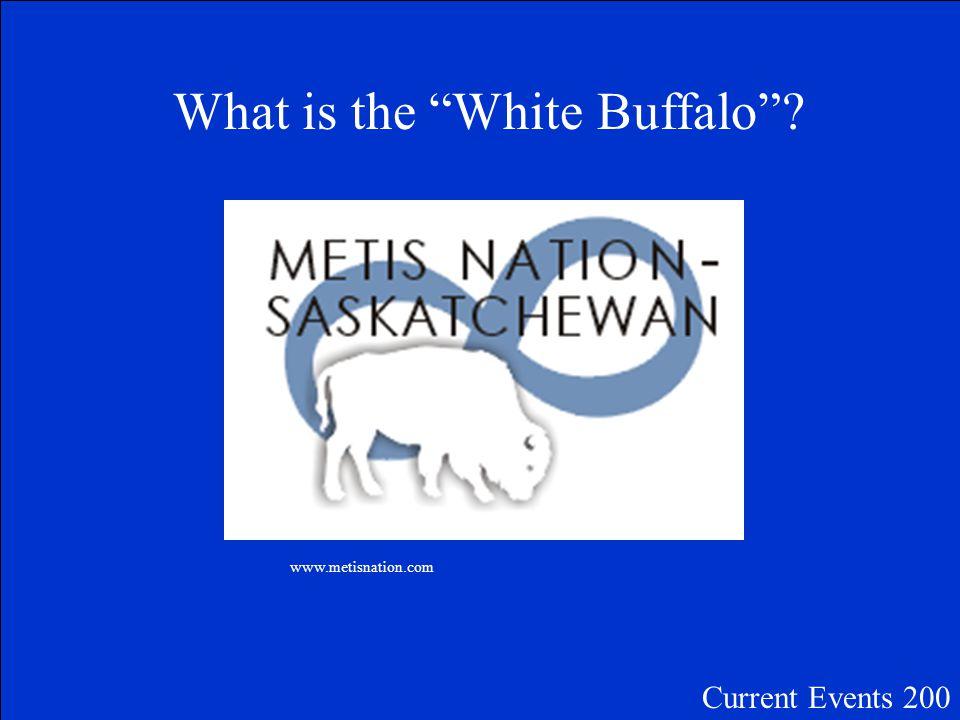 The animal on Saskatchewan's Métis Flag Current Events 200