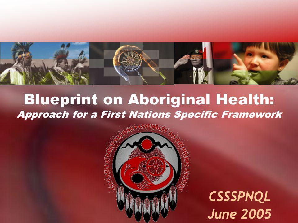 Blueprint on Aboriginal Health: Approach for a First Nations Specific Framework CSSSPNQL June 2005
