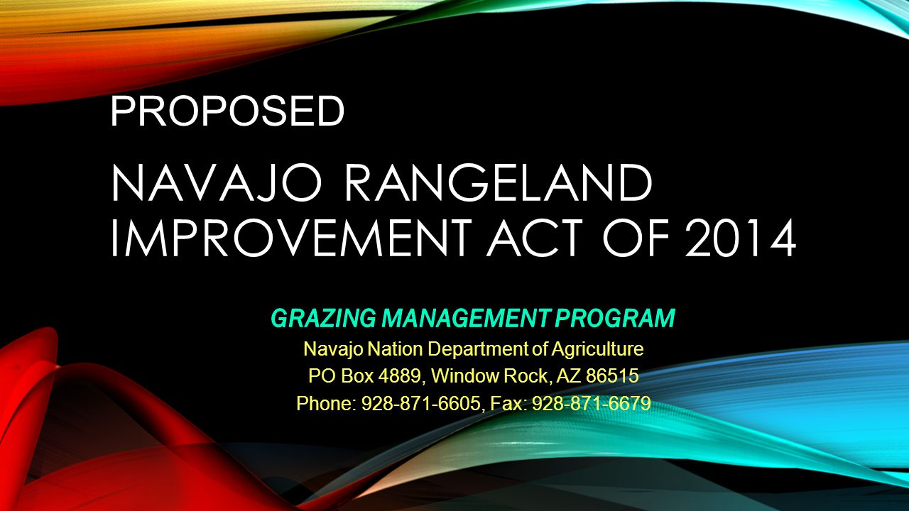 NAVAJO RANGELAND IMPROVEMENT ACT OF 2014 PROPOSED