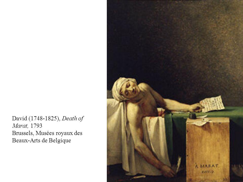 David (1748-1825), Death of Marat, 1793 Brussels, Musées royaux des Beaux-Arts de Belgique
