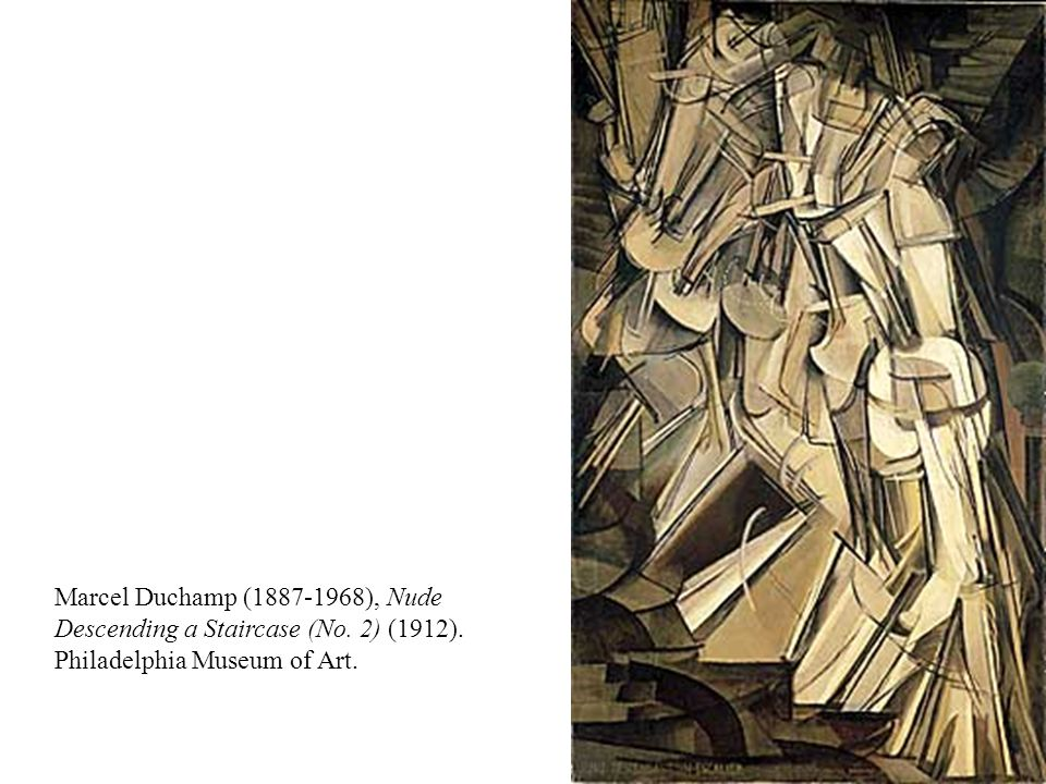 Marcel Duchamp (1887-1968), Nude Descending a Staircase (No. 2) (1912). Philadelphia Museum of Art.