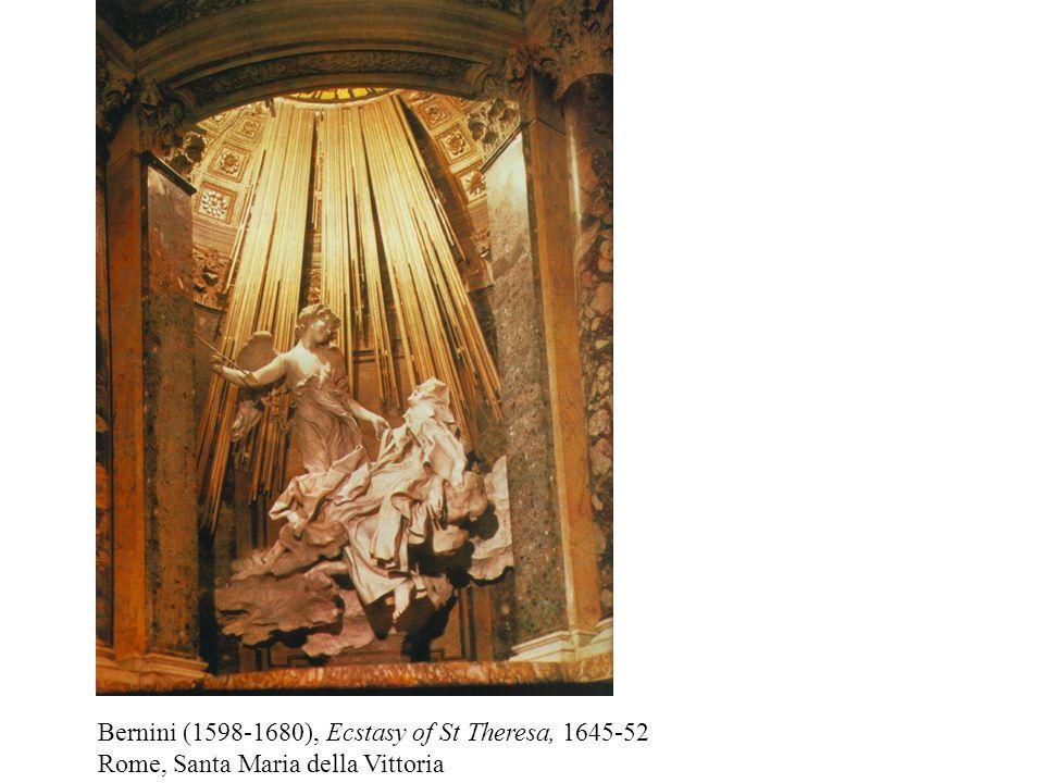 Bernini (1598-1680), Ecstasy of St Theresa, 1645-52 Rome, Santa Maria della Vittoria