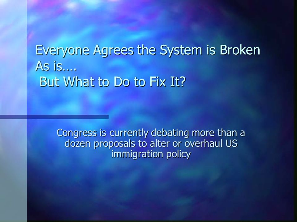 Everyone Agrees the System is Broken As is….But What to Do to Fix It.