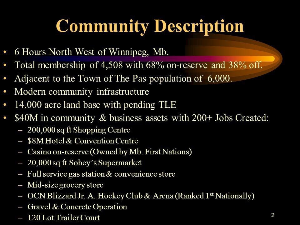 2 Community Description 6 Hours North West of Winnipeg, Mb.