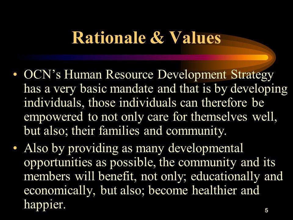 6 Background OCN established its own Training & Developmental Program in 1994/95.