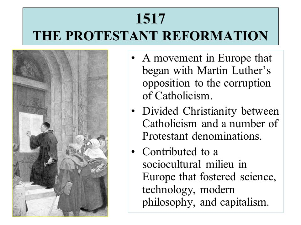Considered to be the culmination of the Protestant Reformation.