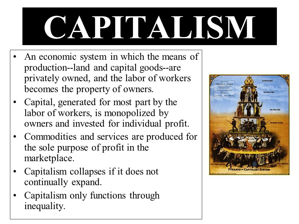 MARX: The history of the world is a history of conflict between CLASSES: –Those who have access to resources and establish power over their production and distribution.
