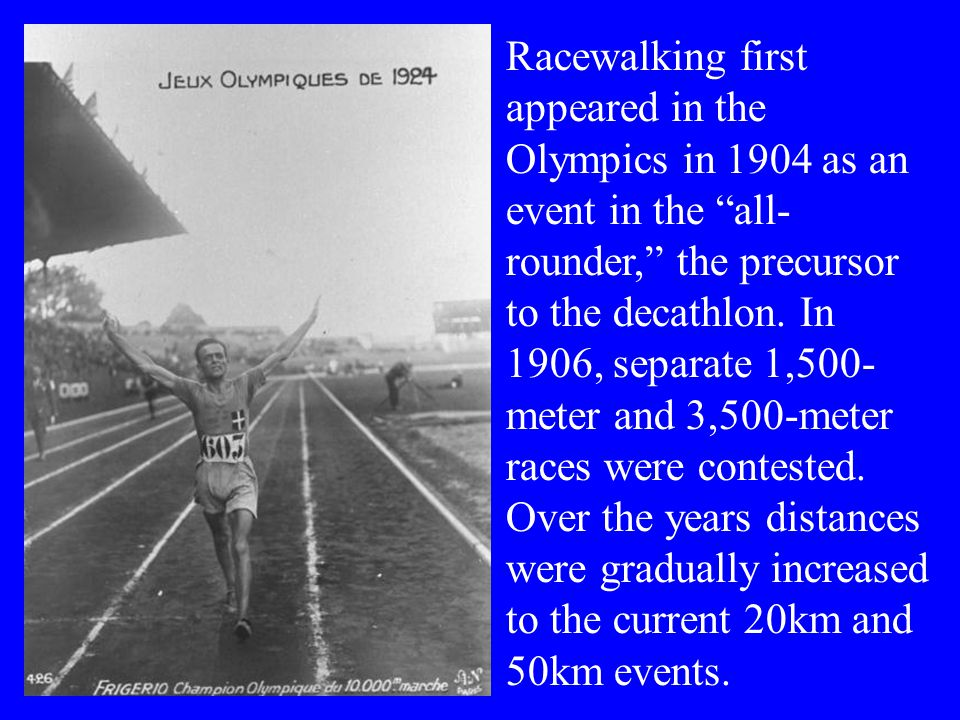 Henry Laskau, Ron Laird, Larry Young and other US walkers were among the best in the world through the 1950s and '60s.