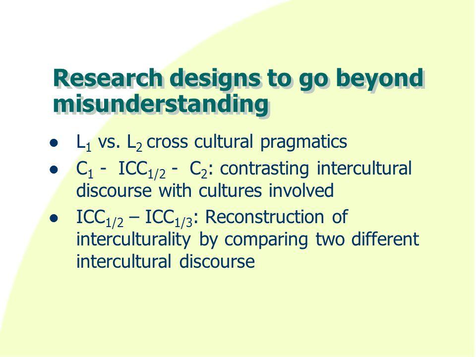 Research designs to go beyond misunderstanding L 1 vs.